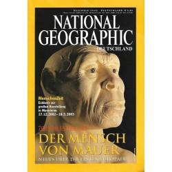NATIONAL GEOGRAPHIC Dezember 2002 - Der Mensch von Mauer