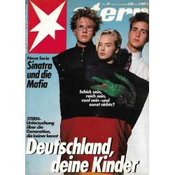 stern Heft Nr.37 / 4 September 1986 - Deutschland deine Kinder