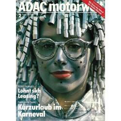 ADAC Motorwelt Heft.2 / Februar 1984 - Fastnachts Feste