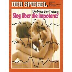 Der Spiegel Nr.16 / 16 April 1973 - Sieg über die Impotenz