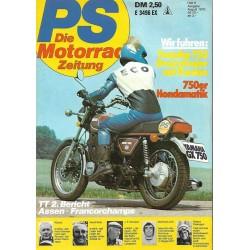 PS Die Motorrad Zeitung Heft 8 - August 1976 - Yamaha 750