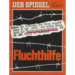 Der Spiegel Nr.34 / 20 August 1973 - Fluchthilfe