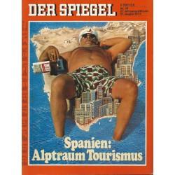 Der Spiegel Nr.35 / 27 August 1973 - Spanien: Alptraum Tourismus