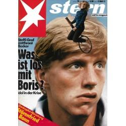 stern Heft Nr.19 / 29 April 1987 - Was ist los mit Boris Becker?