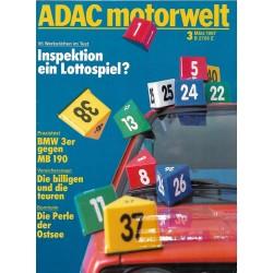 ADAC Motorwelt Heft.3/ März 1987 - Inspektion ein Lottospiel?