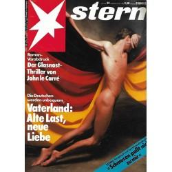 stern Heft Nr.22 / 24 Mai 1989 - Vaterland