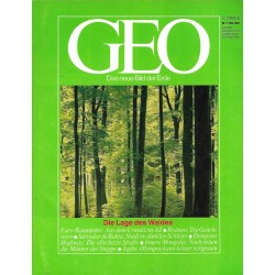 Geo Nr. 5 / Mai 1984 - Die Lage des Waldes