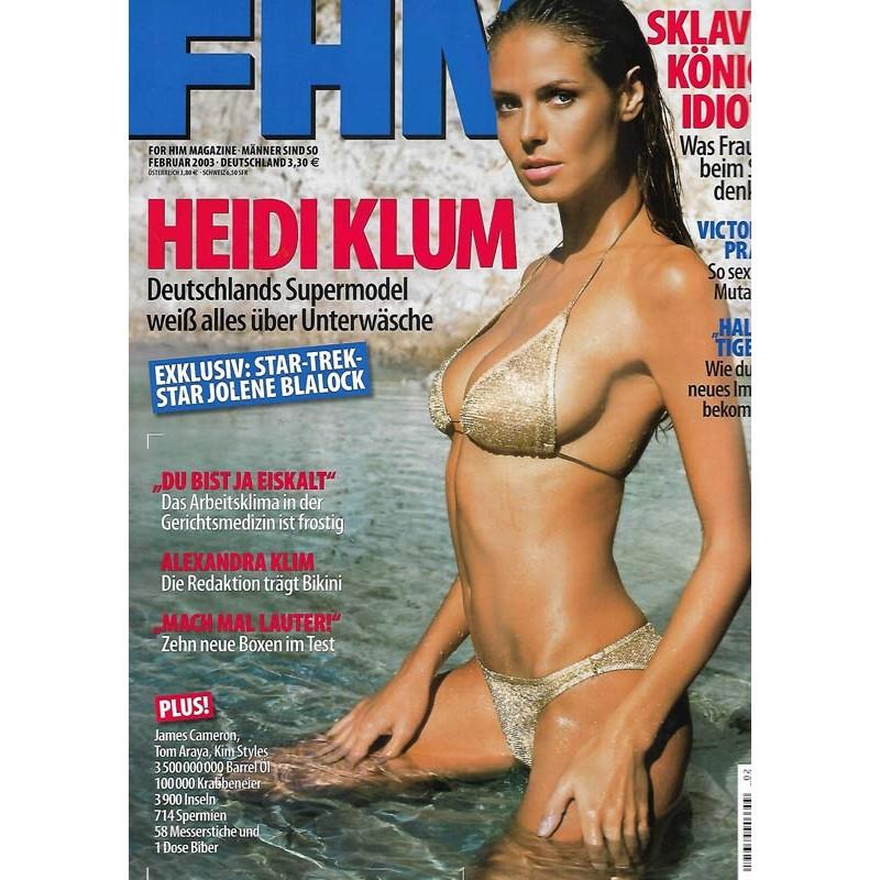 FHM Februar 2003 - Heidi Klum