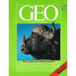 Geo Nr. 8 / August 1988 - Wehe, wenn sie wütend werden