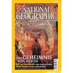 NATIONAL GEOGRAPHIC Juli 2001 - Das Geheimnis von Aksum