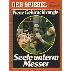 Der Spiegel Nr.33 / 11 August 1975 - Neue Gehirnchirurgie