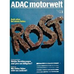 ADAC Motorwelt Heft.1 / Januar 1980 - Rost, auch schon bei neuen Autos