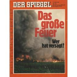 Der Spiegel Nr.34 / 18 August 1975 - Das große Feuer