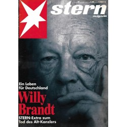 stern Heft Nr.43 / 15 Oktober 1992 - Willy Brandt