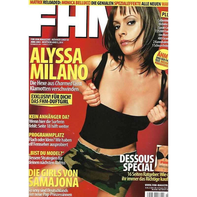 FHM Juni 2003 - Alyssa Milano