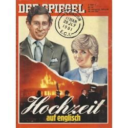 Der Spiegel Nr.30 / 20 Juli 1981 - Hochzeit auf englisch
