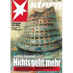 stern Heft Nr.11 / 5 März 1992 - Nichts geht mehr