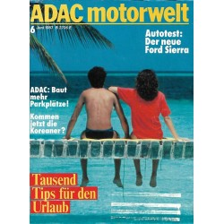 ADAC Motorwelt Heft.6 / Juni 1987 - Tausend Tips für den Urlaub