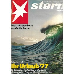 stern Heft Nr.4 / 13 Januar 1977 - Ihr Urlaub 1977