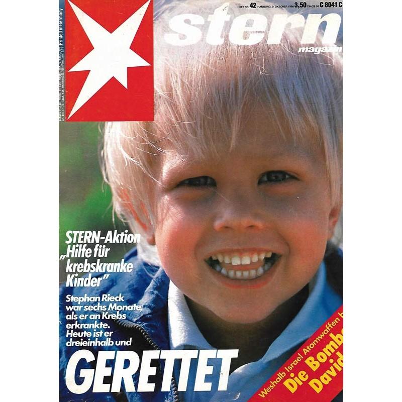 stern Heft Nr.42 / 9 Oktober 1986 - Gerettet