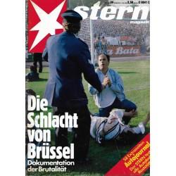 stern Heft Nr.24 / 5 Juni 1985 - Die Schlacht von Brüssel
