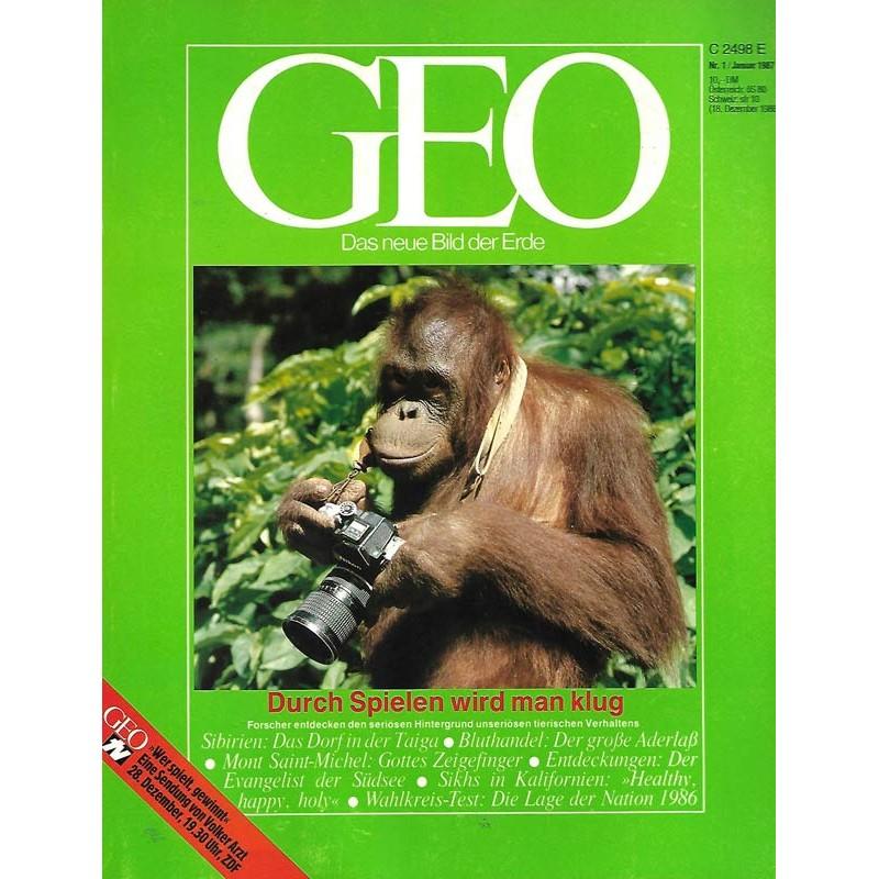 Geo Nr. 1 / Januar 1987 - Durch Spielen wird man klug