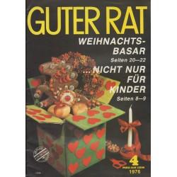 Guter Rat 4/1976 - Weihnachtsbasar