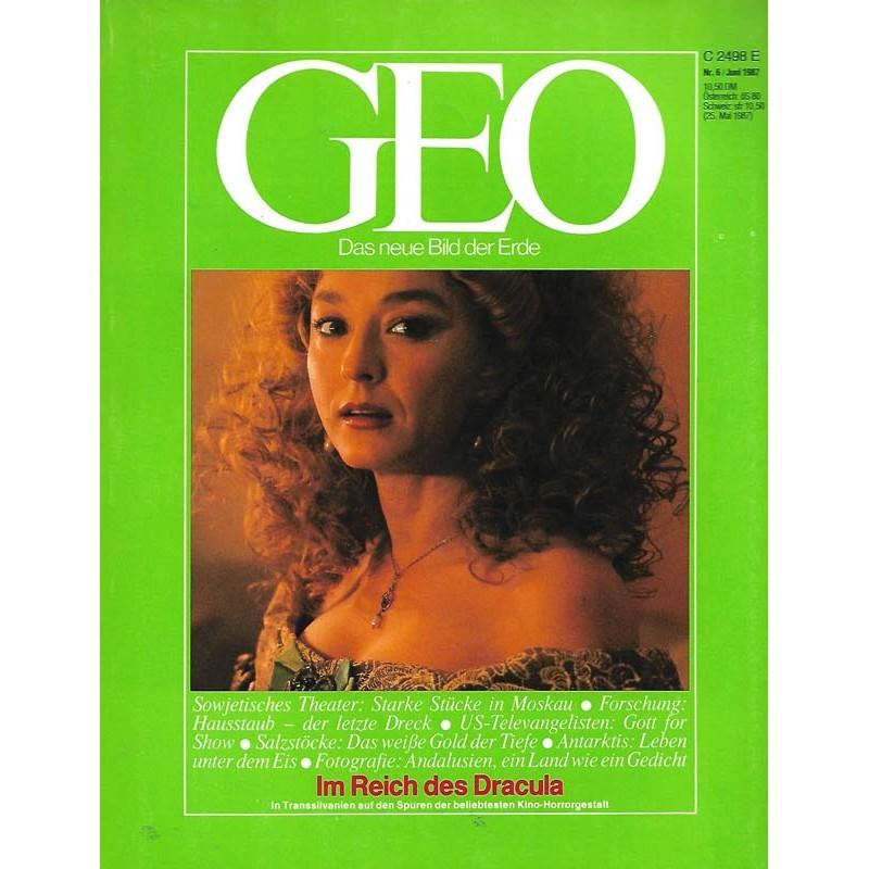 Geo Nr. 6 / Juni 1987 - Im Reich des Dracula