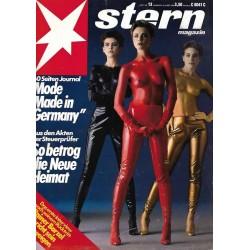 stern Heft Nr.13 / 20 März 1986 - Mode Made in Germany