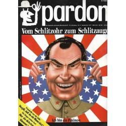 pardon Heft 9 / Sep. 1971 - Vom Schlitzohr zum Schlitzauge