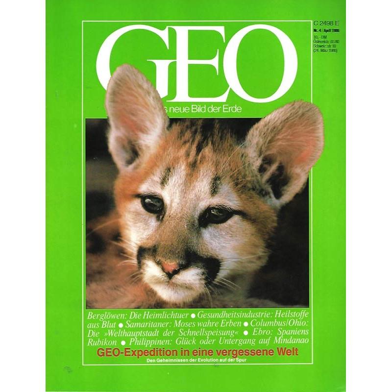 Geo Nr. 4 / April 1986 - Berglöwen