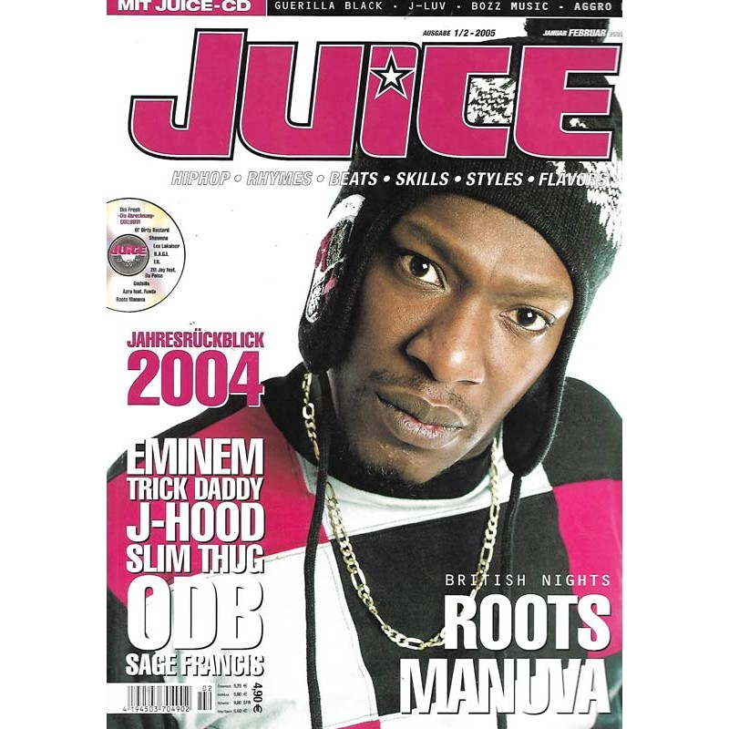 JUICE Nr.71 Januar / Februar 2005 & CD 49 - Roots Manuva
