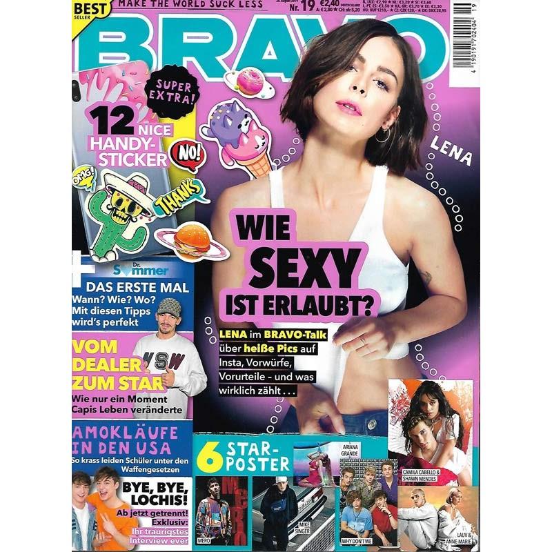 BRAVO Nr.19 / 28 August 2019 - Lena: Wie sexy ist erlaubt?