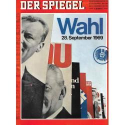 Der Spiegel Nr.39 / 22 September 1969 - Wahl