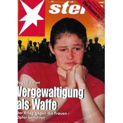 stern Heft Nr.49 / 26 November 1992 - Vergewaltigung als Waffe
