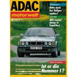 ADAC Motorwelt Heft.9 / September 1987 - Ist er die Nummer 1?