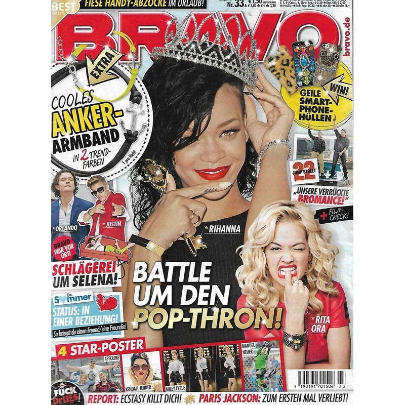 BRAVO Nr.33 / 6 August 2014 - Battle um den Pop Thron!