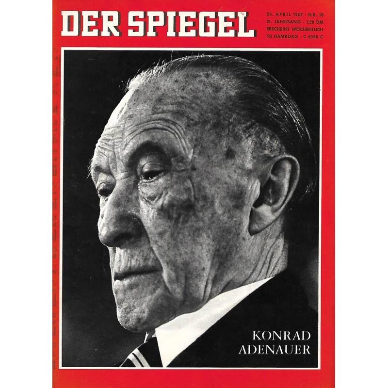 Der Spiegel Nr.18 / 24 April 1967 - Konrad Adenauer