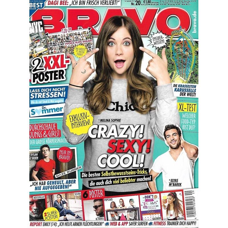 BRAVO Nr.20 / 16 September 2015 - Crazy! Sexy! Cool! Melina Sophie
