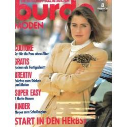 burda Moden 8/August 1991 - Couture