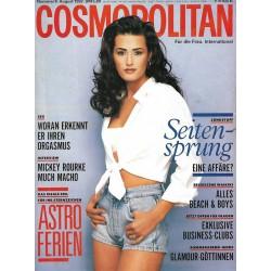 Cosmopolitan 8/August 1992 - Yasmin Lebon Seitensprung/ Männerwünsche