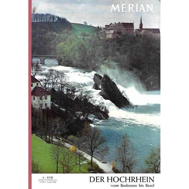 MERIAN Der Hochrhein 8/XVIII August 1965