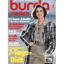 burda Moden 2/Februar 1986 - 113 Super Schnitte