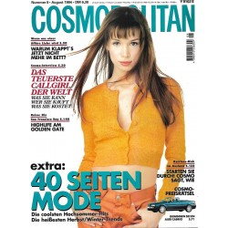 Cosmopolitan 8/August 1994 - Angelika Kallio / 40 Seiten Mode