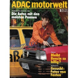 ADAC Motorwelt Heft.5 / Mai 1986 - Straßenwacht Statistik