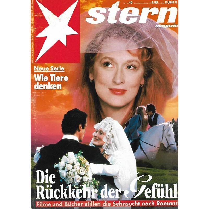 stern Heft Nr.45 / 4 November 1993 - Die Rückkehr der