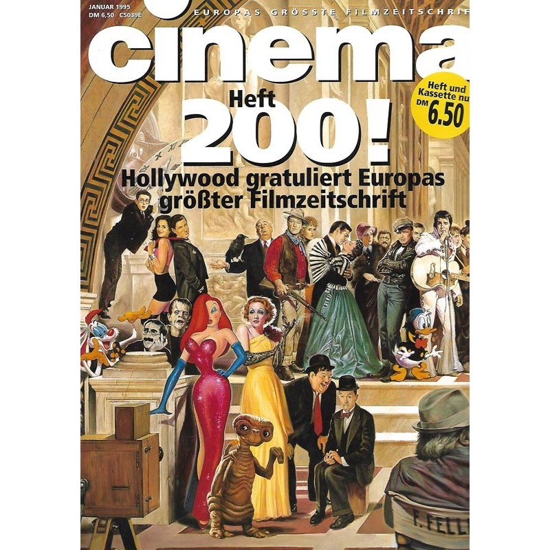 CINEMA 1/95 Januar 1995 - Cinema Heft 200!
