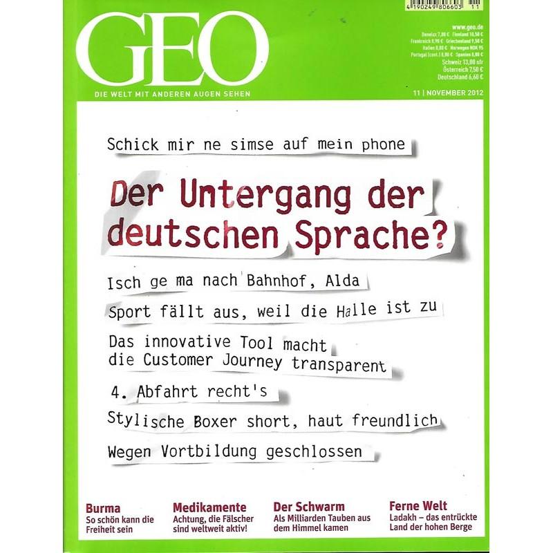 Geo Nr. 11 / November 2012 - Der Untergang der deutschen Sprache