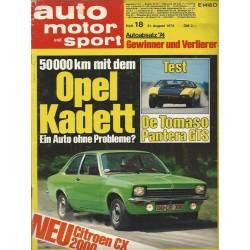 auto motor & sport Heft 18 / 31 August 1974 - Opel Kadett