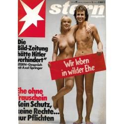 stern Heft Nr.46 / 5 November 1981 - Wie leben in wilder Ehe